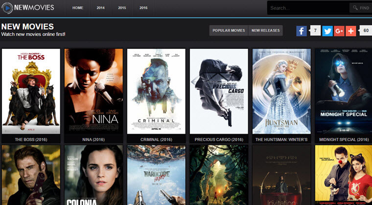Top 5 Free Movie Websites To Stream Movies or TV Show Online 2017′