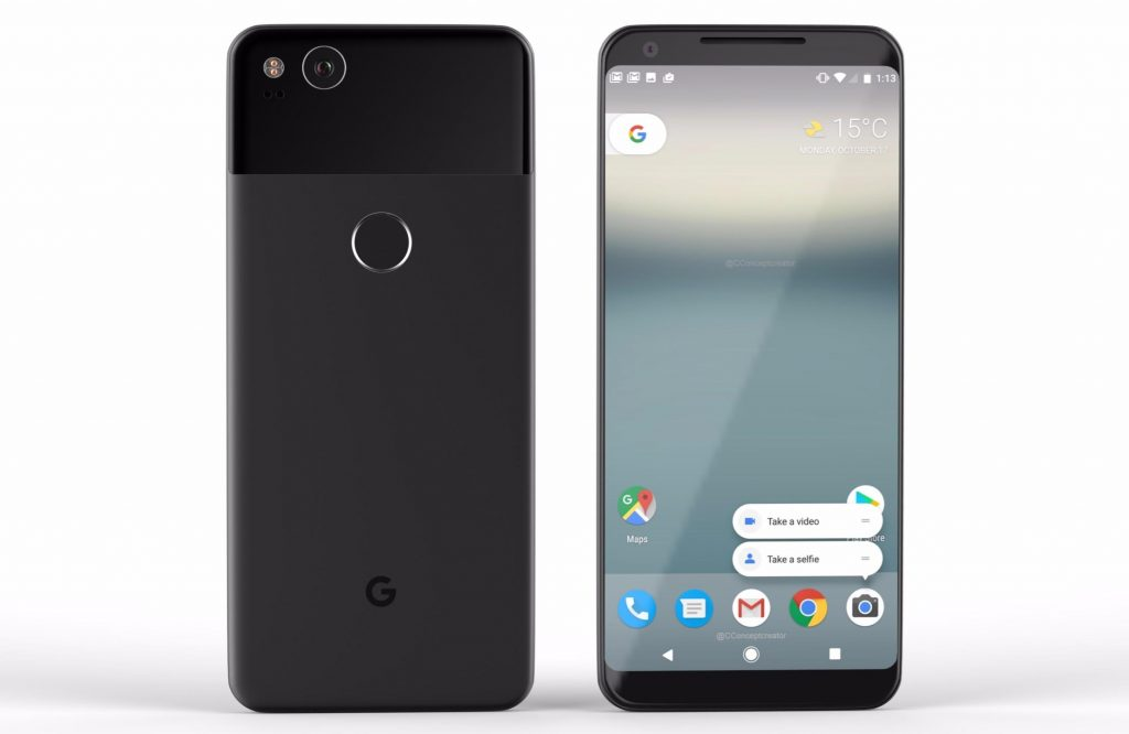 Android Device look like Google Pixel 2